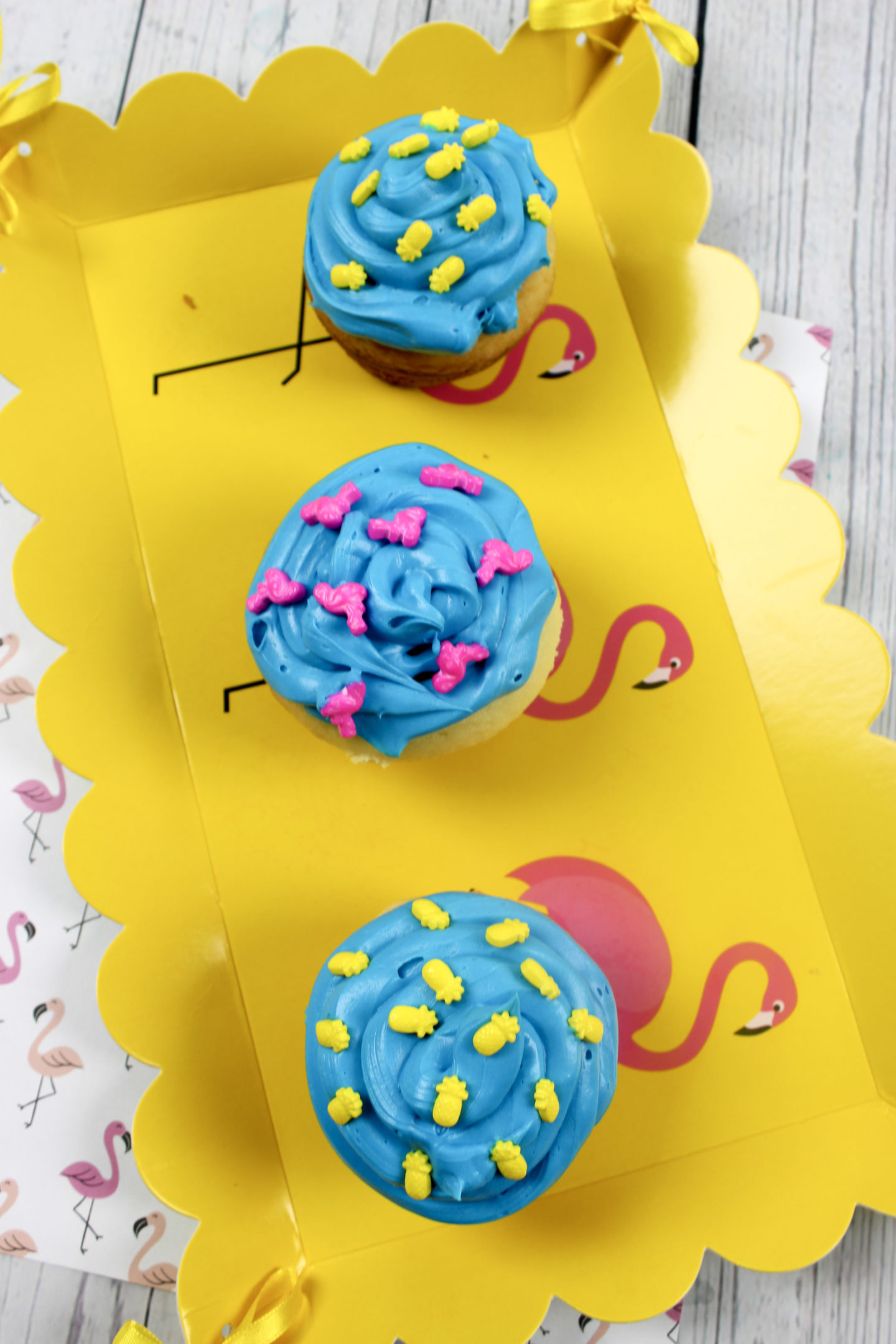 Pineapple Flamingo Cupcakes